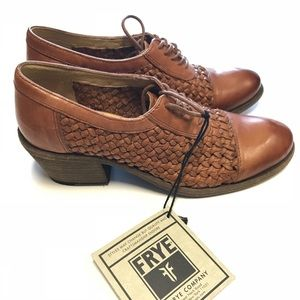 Frye Quilted Leather Oxfords
